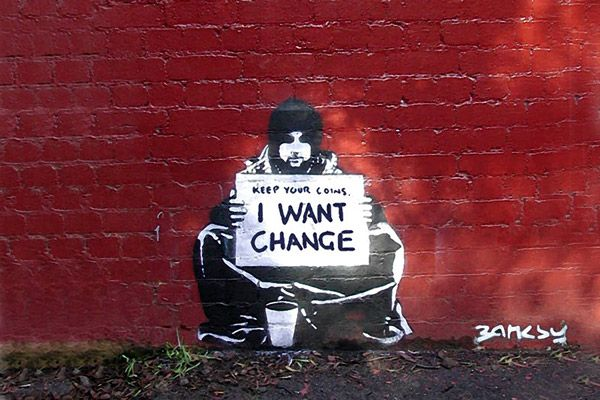 Banksy street art [photo credit: icanvasart.com]