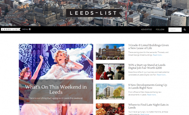 Leeds List front page 20/03/2017