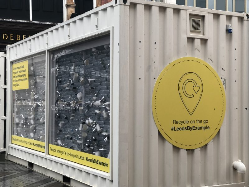 Leeds to trial the UK's first on-the-go recycling initiative