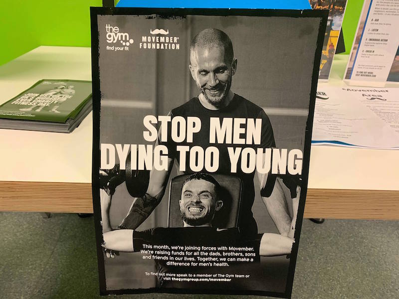 'Stop men dying too young' poster
