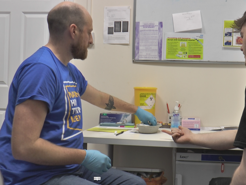 Charity offers free HIV testing amid increase in cases