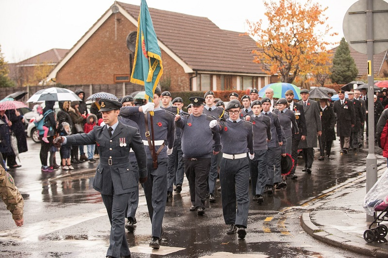 Air cadets marching
