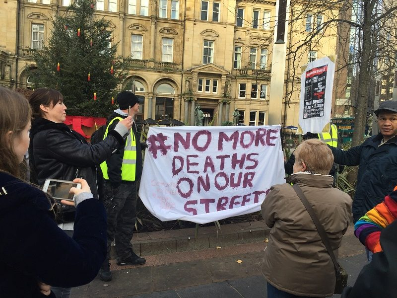 Protest march blames Leeds City Council for deaths on our streets