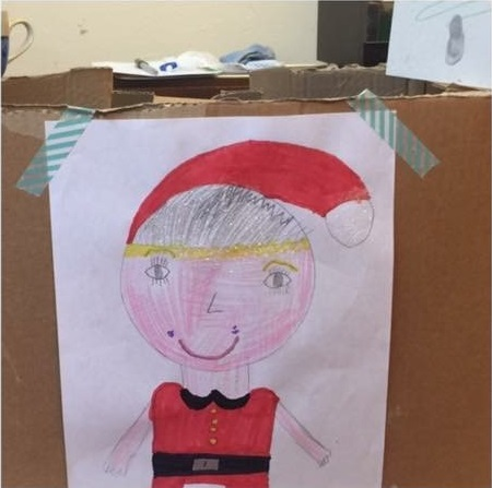 Christmas drawing from children involved in campaign