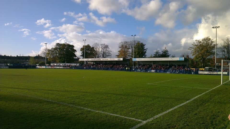 Nethermoor Park, the home of level 6 football club, Guiseley AFC.